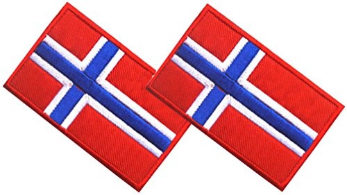 QTao PA102 Multiple Country Flag Velcro Patch 2 PCS (Norway) (Norway Pc)