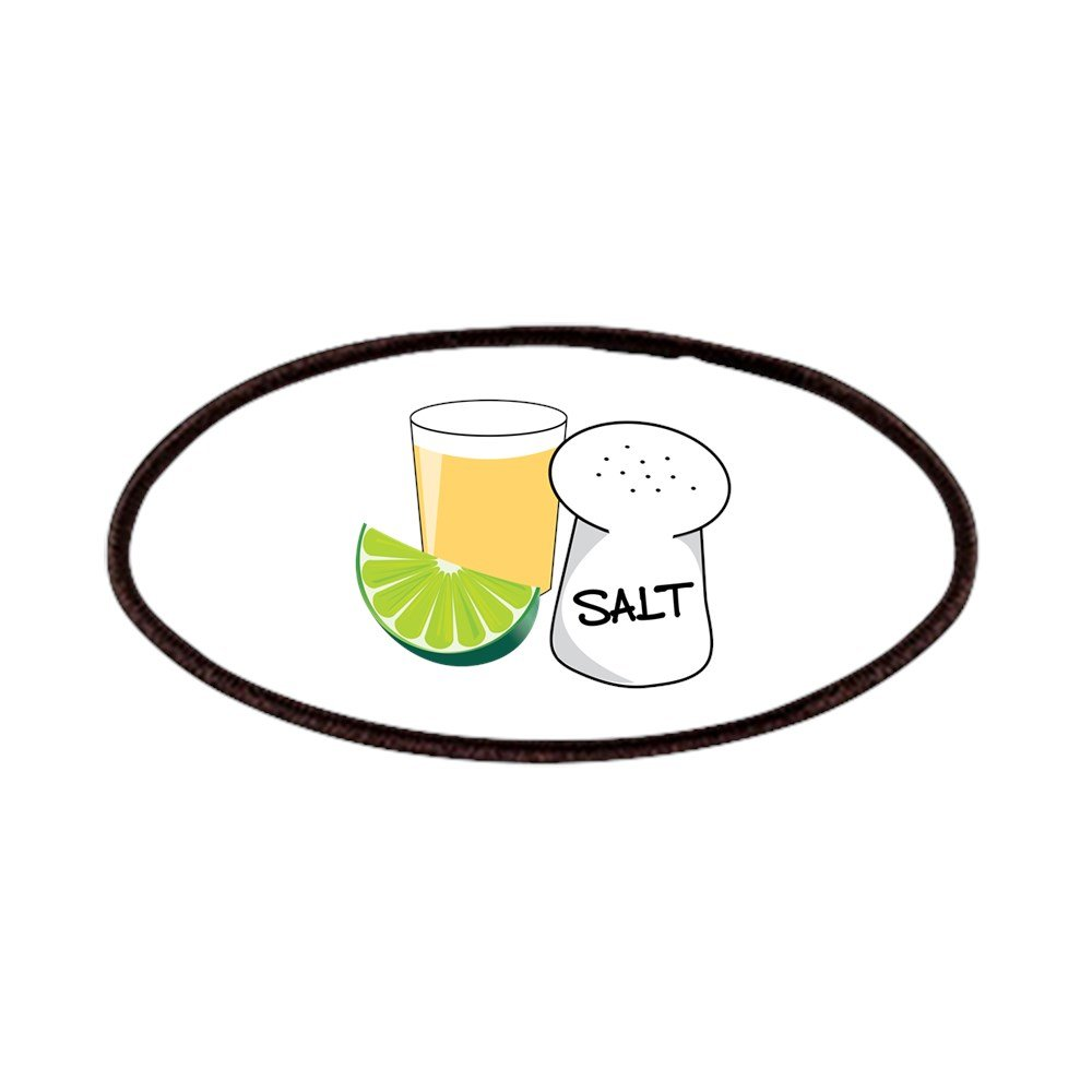 CafePress - Tequila Shot Patches - Patch, 4x2in Printed Novelty Applique Patch