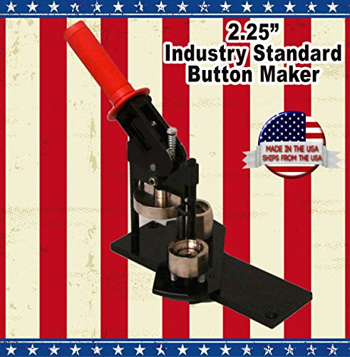 2 25  Button Maker Machine   20 Complete Pinback Button Parts   Cds   Software From American Button Machines