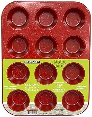 CasaWare Muffin Ceramic Non Stick Granite product image