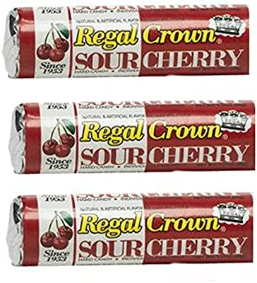 Regal Crown Hard Candy 3 Pack Sour Cherry Flavor Individually Wrapped Grocery Gourmet Food Amazon Com