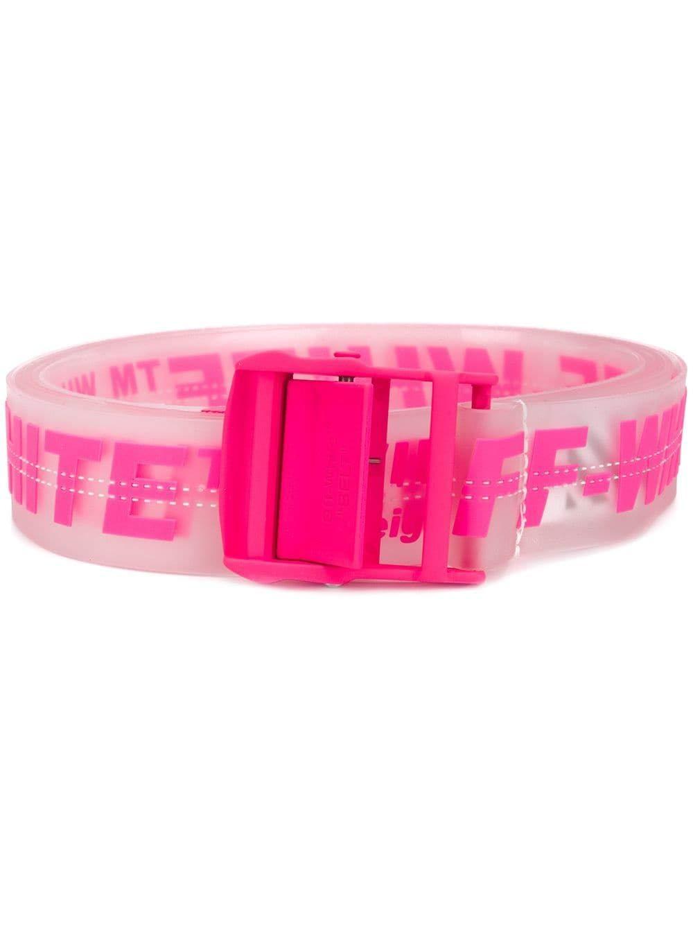 Off-White Women's Owrb009r198510889828 Pink Pvc Belt