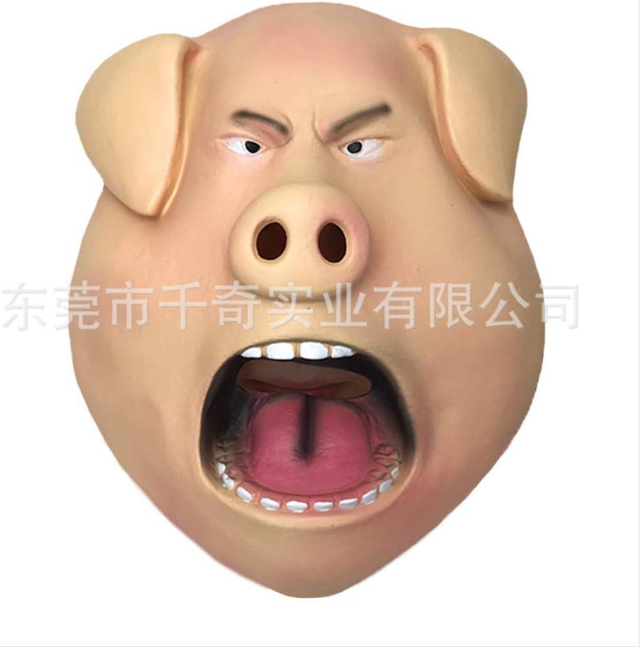 ZhuYiCheng Máscara de Cabeza de Cerdo Enojado Enojado, máscara de Cerdo Rossi, máscara de látex