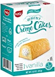 #7: Katz Gluten free Heavenly Vanilla Crème Cakes, 8.8 Ounce, Certified Gluten Free - Kosher - Dairy, Nut, and Soy free - (Pack of 1)