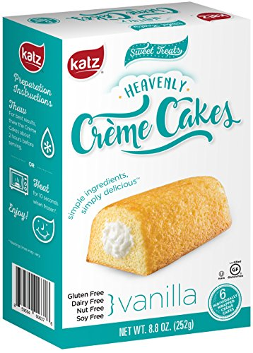(Katz Gluten free Heavenly Vanilla Crème Cakes, 8.8 Ounce, Certified Gluten Free - Kosher - Dairy, Nut, and Soy free - (Pack of 1))