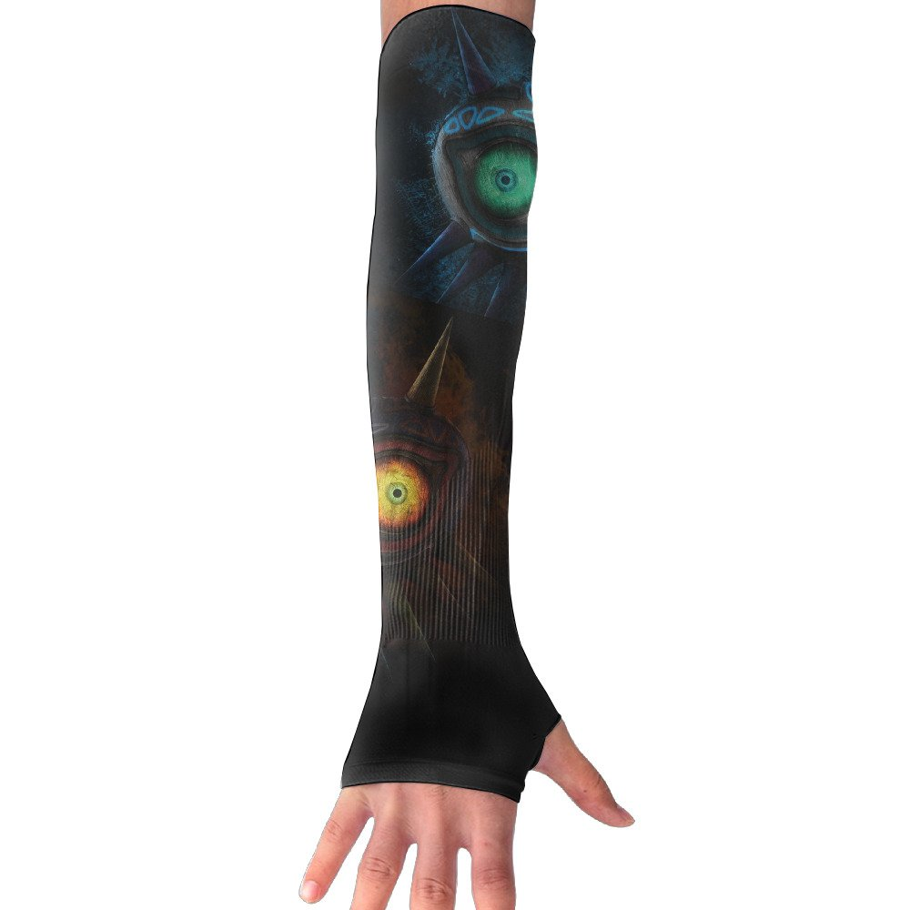 Suining Unisex Mechanical Owl Eyes Sunscreen Outdoor Athletic Arm Warmer Long Sleeves Glove