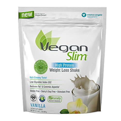 Naturade Veganslim Plant Based High Protein Weight Loss Shake – Vanilla - 24.2 oz