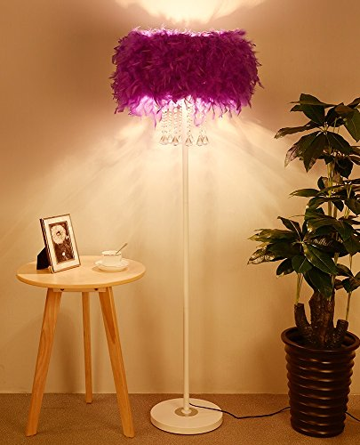 ETERN Warmth feather crystal lampshade floor lamp