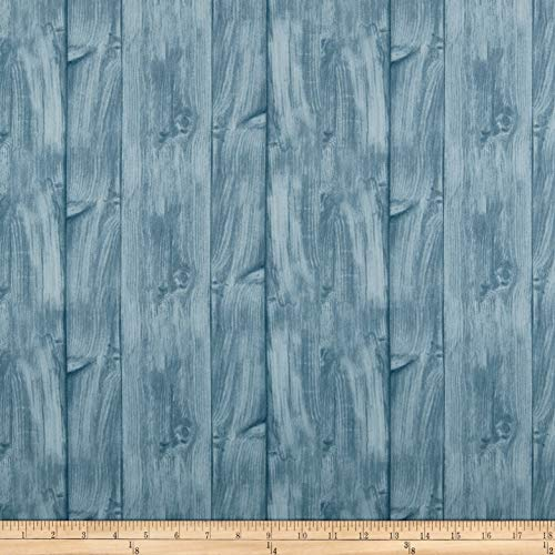 Wilmington Prints A Day At The Lake Wood Texture Fabric, Dusty Blue, Fabric By The Yard