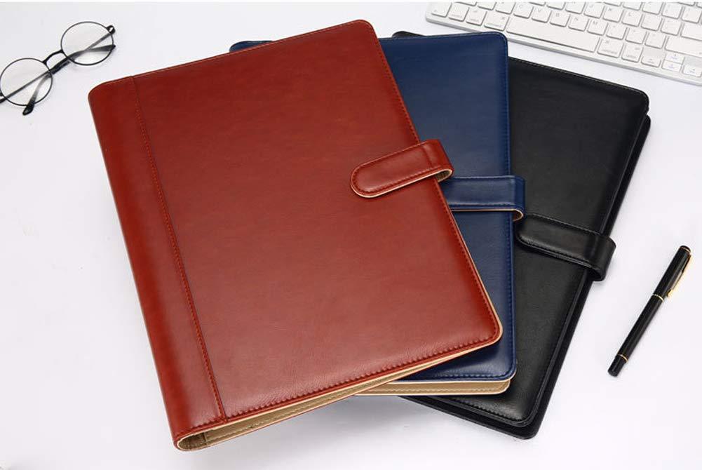 Padfolio Portfolio Case A4 Conference Folder Executive Business Padfolio Document Clipboard Business Card Holders Portfolio Padfolio,Blue
