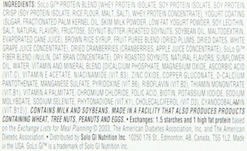 SoLo Gi Lemon Lift Bars, 1.76-Ounce Bars (Pack of 12)
