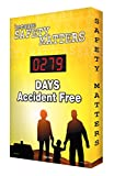 Accuform SCK105 Aluminum Digi-Day Electronic Scoreboard, Legend ''BECAUSE SAFETY MATTERS - #### DAYS ACCIDENT FREE'', 28'' Height x 20'' Width x 2'' Depth, White on Yellow