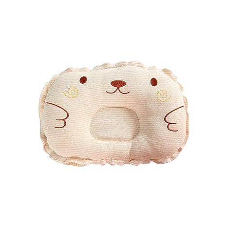 mi ji Almohada para bebé forma Almohada Bebé almohada para evitar almohadas planas para la cabeza Forma bebé recién nacida almohada protectora para ...