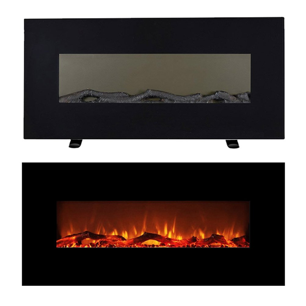 Astonishing Flameshade Electric Fireplace Compact Heater 48 Flat Panel Free Stand Or Wall Mounting 1500 750W Realistic Led Flame Log And Crystal With Download Free Architecture Designs Griteanizatbritishbridgeorg