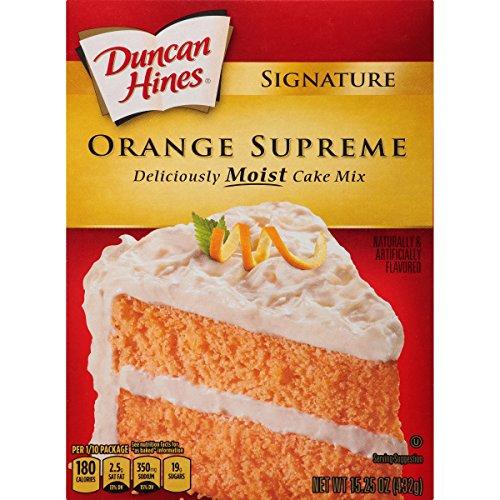 (Duncan Hines Signature Cake Mix, Orange Supreme, 15.25 Ounce)