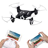 Syma X21W Wifi FPV Mini Drone With Camera Live Video LED Nano Pocket RC Quadcopter With GYRO App Control Black