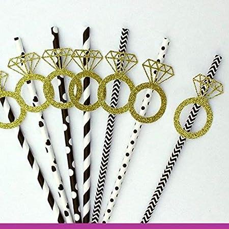 Anillo pajitas – pajitas de despedida – anillos de boda pajitas ...