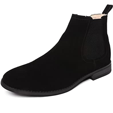 32bc89c0153ce2 OUOUVALLEY Classic Slip-on Original Suede Chelsea Boots (9 N(A) US