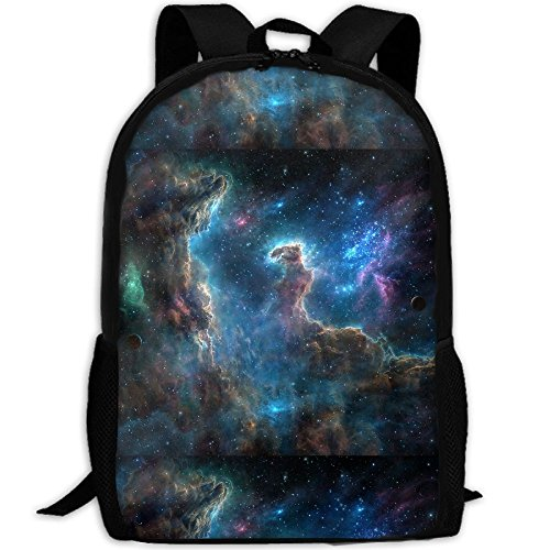 ZQBAAD Space Nebula Spitzer Space Telescope Spaceship Luxury Print Men And Women's Travel Knapsack (Space Telescope Spitzer)