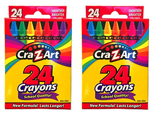 Cra-Z-Art 24 Count Assorted Colors Crayons