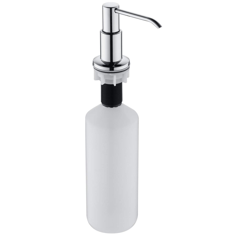 GICEEPO Soap Dispenser for Kitchen Sink Large Capacity 17 OZ Bottle Solid Brass Pump Head Chrome