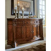 Universal Furniture Villa Cortina Storage Credenza with Marble Top Drawer