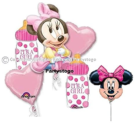 Amazon Minnie Mouse Baby Shower Balloon Bouquet Decorations