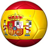 Rikki Knight RND-LSPDBL-67 Spain Team World Cup Flag Soccer Ball Football Round Design Double Toggle Light Switch Plate
