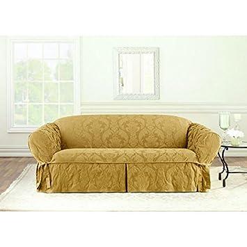 Amazoncom Sure Fit Matelasse Damask Sofa Cover Home Kitchen