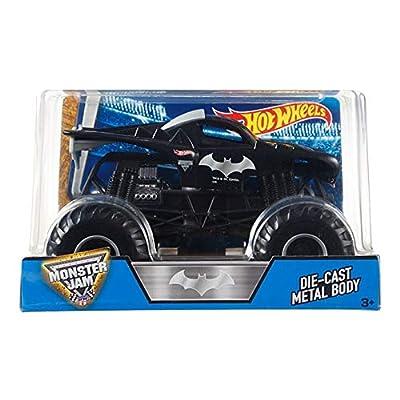 Hot Wheels Monster Jam Batman Die-Cast Vehicle, 1:24 Scale: Toys & Games