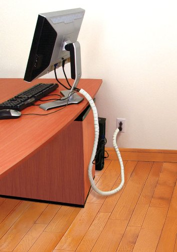 Cable Zipper, Extension Cord Storage Organizer, Power Cord Cable Organizer,  White, Large