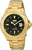 "Invicta Men's 15286 ""Pro Diver"" 18k Yellow Gold Ion-Plated Stainless Steel and Diamond Accent Watch"