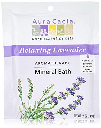 Paquet de 2,5 onces de Cacia aromathérapie minérale bain relaxant lavande, aura (Pack de 3)