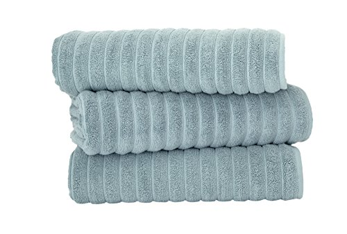 Classic Turkish Towels 3 Piece Luxury Bath Sheet Set – 40 x 65 Inch Soft and Thick Oversized Bathroom Towels Made with 100% Turkish Cotton (Seafoam)