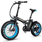 Addmotor Motan Electric Fat Tire 20Inch Bikes 500w 48v Snow Folding Bicycles Lithium Battery 4 Colors M-150 E-bikes For Men(Blue)