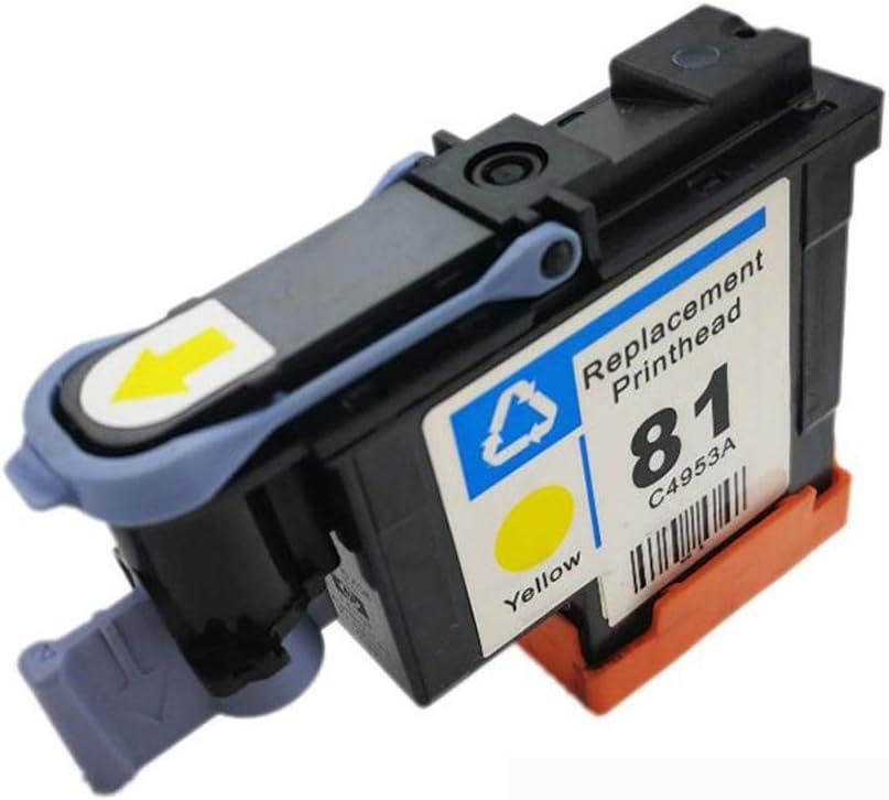 YBCD Apto para Plotter HP Designjet HP5000 HP5500 C4950A C4951A C4952A C4953A C4954A C4955A Cabezal de impresión 81 Cabezal de impresión-Yellow: Amazon.es: Electrónica