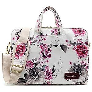 Canvaslove Chrysanthemum Pattern New Design 15 inch Waterproof Laptop Shoulder Messenger Case Bag With 270 Degree…