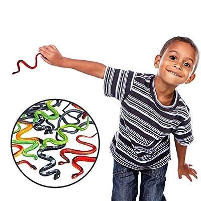 24 Piezas de Serpientes de Plástico Serpientes de Selva Juguete de Serpiente Realista Niños, Decoración Favores de Fiesta, Premios y Regalo de Relleno de Bolsa: Juguetes y juegos