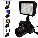 Julius Studio 160 LED Light with 4 Color Filters for Digital Camera