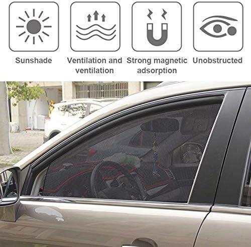 Metyere 1//2//3Pair Car Sun Shade Magnetic Side Window Thick Mesh Curtains Sunshade