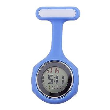 Fangcheng Enfermera Digital Reloj Broche Reloj Colgante Bolsillo Trabajo Reloj Digital Pure Color Silicone Médico Personal Atención Médica Reloj Colgante ...