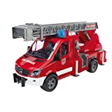 Bruder MB Sprinter Fire Engine with Ladder, Water Pump, and Light/Sound Module