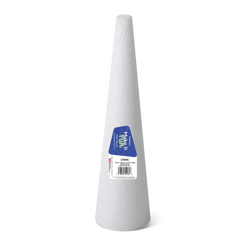 Styrofoam Cone 8x3 White