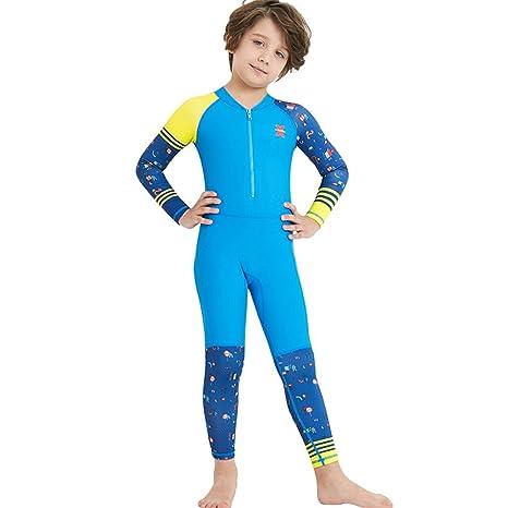 Abbigliamento sportivo Gogokids Costume da Bagno per Bambina Bambini Nuoto Abbigliamento Intero Maniche Lunghe Protezione Solare UV per Sport Acquatici