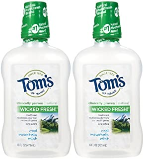 product image for Tom's of Maine Long Lasting Wicked Fresh Mouthwash, Cool Mountain Mint - 16 oz - 2 pk by Tom's of Maine