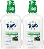 Tom's of Maine Long Lasting Wicked Fresh Mouthwash, Cool Mountain Mint - 16 oz - 2 pk by Tom's of Maine