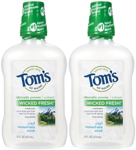 Tom's of Maine Long Lasting Wicked Fresh Mouthwash, Cool Mountain Mint - 16 oz - 2 pk by Tom's of - Maine Shopping