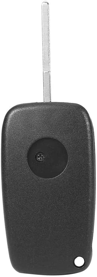 Key Shell Case 3 Button Key Shell Cover Car Key Fob Case with Side Battery Holder Fits for Fits for Punto//DucatoBlack