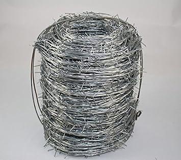 Verzinkter Stacheldraht Stacheldrahtzaun Zaun Metallzaun