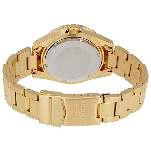 Invicta Women's 21397 Pro Diver 18k Gold Ion-Plated Stainless Steel Watch with Crystals 5